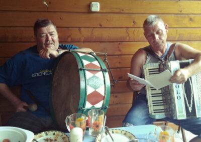 Andrzej Dobierzewski i Paweł Ladorucki podczas kameralnego spotkania w Sokolnikach. Fot. Joanna Skowrońska