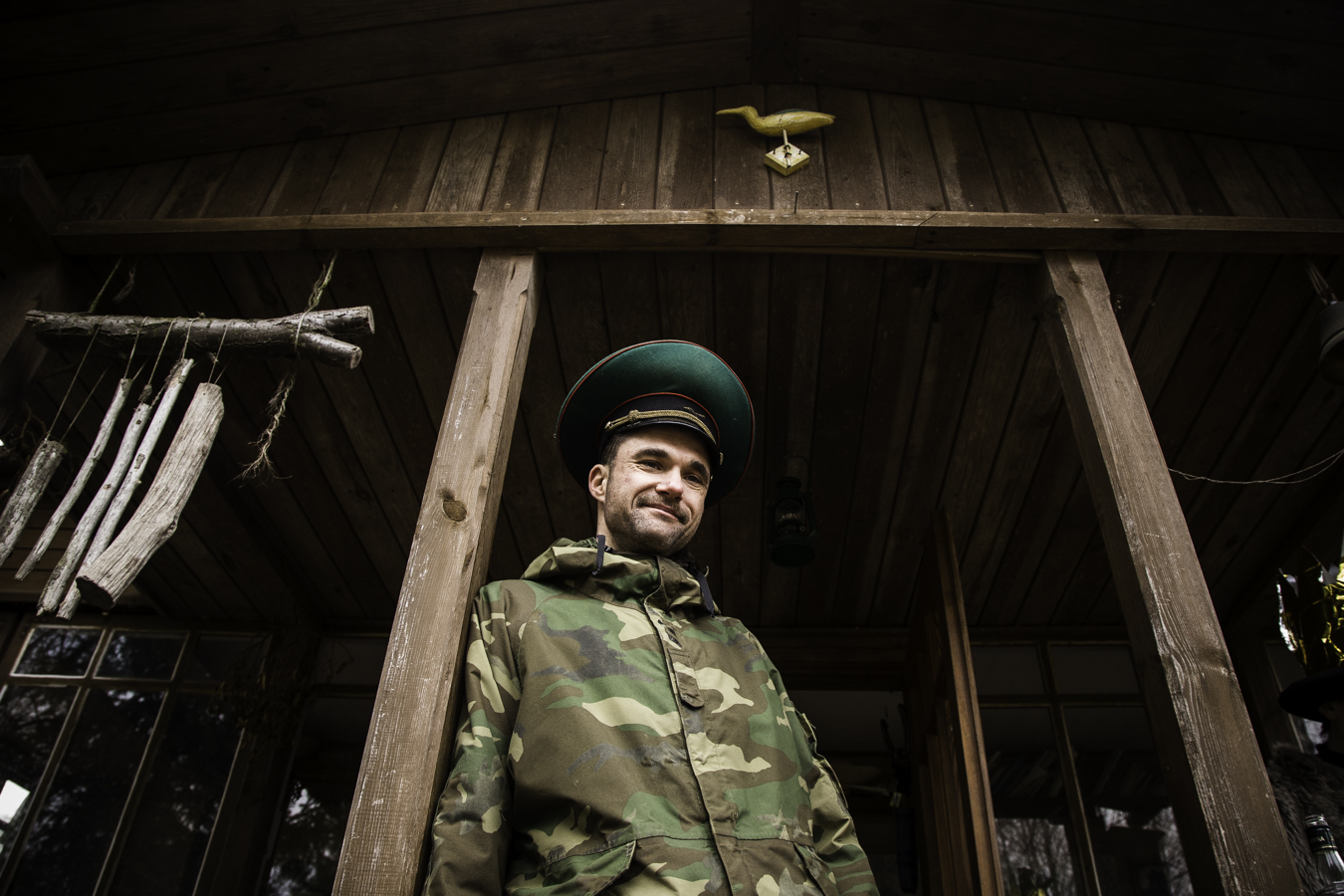 Mędrzec i Żołnierz podczas gościny w Korbelówce.