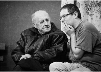 Krzysztof Gorczyca i Władysław Małyszek, akordeonista ze Średniówki. Jędrzejówka 2015, Fot. Robert Nieśpiał