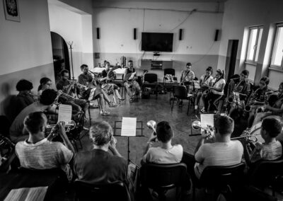 Warsztaty tradycyjnych melodii orkiestrowych, Fanfara, Chłopków 2019. Fot. Marcin Pietrusza
